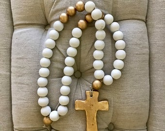 """Large """"Cross"""" Blessing Beads"""