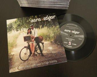 Music Theme Authentic Vinyl Record Wedding Invitation