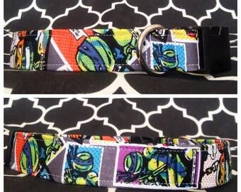 Ninja Turtles Dog Collar / Martingale