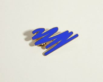 Blue Enamel pin brooch enamel pin