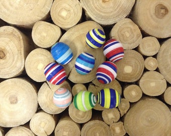 Multi-Colored Paper Beads