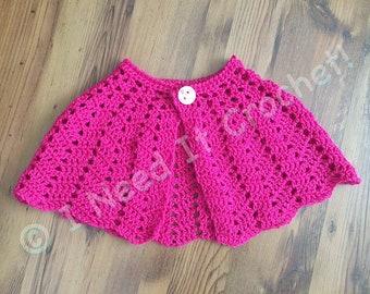 Cape, Capelet, Wedding Capelet, Crochet Capelet, Shawl, Crochet Shawl, Flower Girl Cape, Church Cape, Crochet Cape