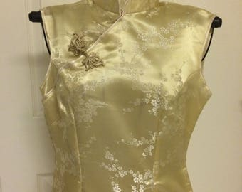 GOLD Cheongsam vintage dress