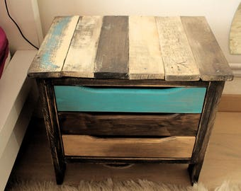 Nightstand from palettes, UPcycled Wood