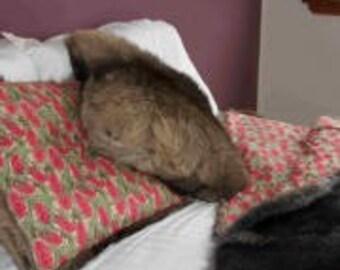 Wallaby fur cushion