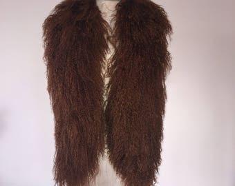 Mongolian Fur Vest - Chestnut