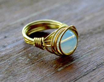 Gemstone Wire Wrapped Ring  ||  Metaphysical Healing Aid