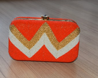 Orange Bead Clutch Box