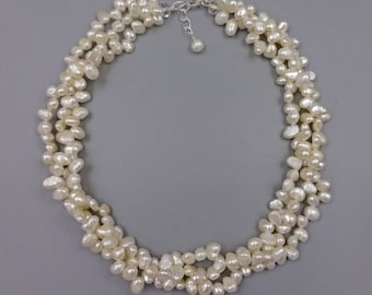 """17"""" Cultured fresh water pearl necklace with 1.5"""" extender"""
