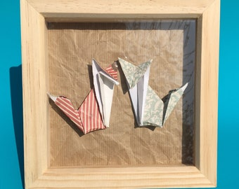 Foxes Origami Box frame