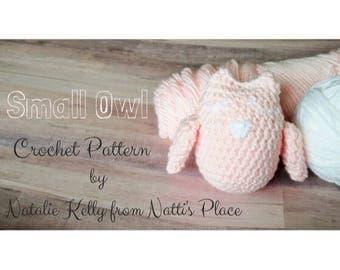 Owl Crochet Pattern, PDF Digital Download