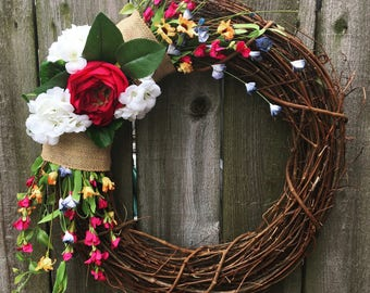 Spring Wreath | Front Door Wreath | Floral Wreath | Spring Decor