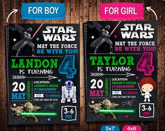 Star Wars Invitation, Star Wars Invite, Star Wars Birthday, Star Wars Party, Star Wars Printable, Star Wars Card, Star Wars Digital