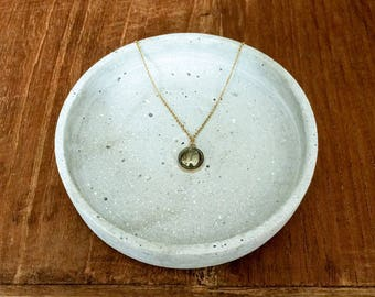 Pyrite necklace | 14k gold filled