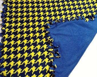 University of Michigan Colors Fleece Blanket