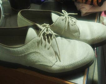 Vintage Hush Puppy Suede Hipster Lace Up Oxfords