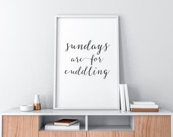 sundays are for cuddling printable