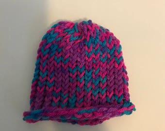 Multicolored Baby Hat
