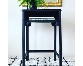 Art-Deco Writing Desk with Cutouts and Gold Detailing- LOCAL PICKUP ONLY