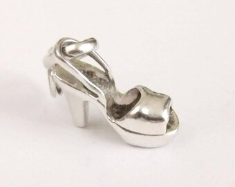 Authentic Links of London Sterling Silver Disco Diva shoe Sweetie Bracelet Charm