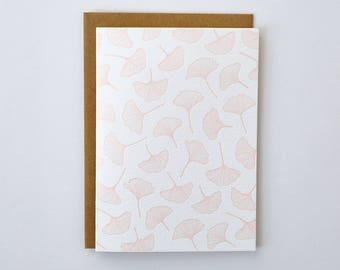 Ginkgo Leaf Letterpress Greeting Card