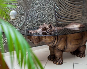 "creation coffee table ""Hippo"""