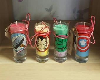 Marvel Avengers Shot Glass Candles