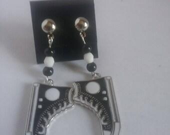 Tennis shoe earrings