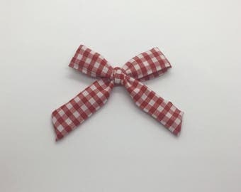 Red Gingham Mini Bow