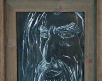 Oil painting, The Sorcerer