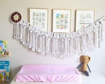 Macrame Banner - Macrame Wall Hanging - Macrame Wall Decor - Macrame Wall Art - Boho Wall Decor - Boho Wall Hanging - Boho Banner