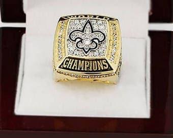 Custom Replica New Orleans Saints 2009 Super Bowl Championship Ring..solid Copper