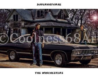 Supernatural-The Winchesters Original Art Print