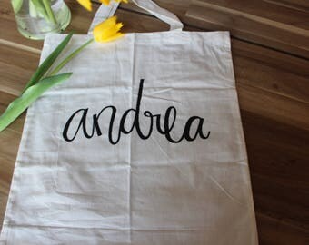 Handpainted and Personalized Light Weight Tote