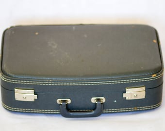 Vintage Dark Blue Suitcase