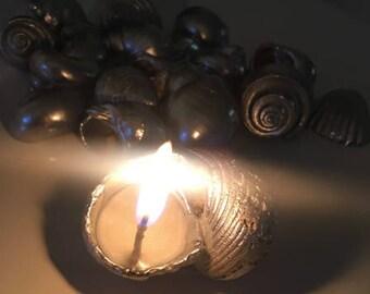 Seashell Tea Light Soy Candles