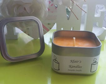 Pumpkin Souffle scented candle, Eco Soy Wax, Handmade by Klair's Kandles