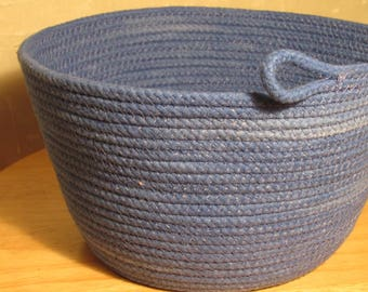 Blueberry handmade rope bowl