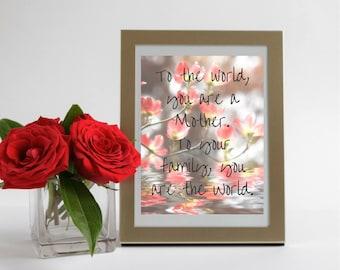 Mothers Day Digital Print - Floral