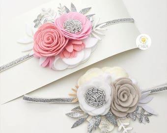 Felt flower headband / flower headband / baby headband / headband / kids accessories / hair band / hair accessories / flower accessories