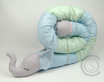 Bed snake 180 cm puck worm storage cushion