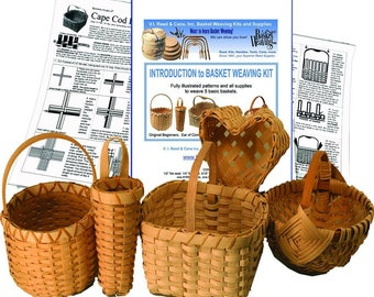 Introduction to Basket Weaving Kit for 5 Baskets