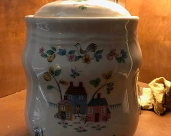International China Heartland Flour Canister with Lid/Cookie Jar