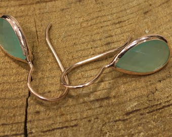 Handmade Silver Earrings With Emerald