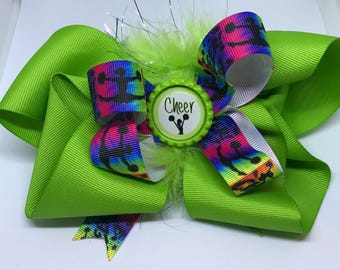 Cheer Bow- Lime green