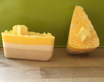 Lemon & coconut drizzle soy wax melt slice cake slice,candle,oil burner