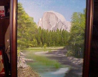 Yosemite Half Dome oil painting