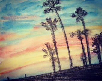 Watercolor Painting: I Need A Vacation