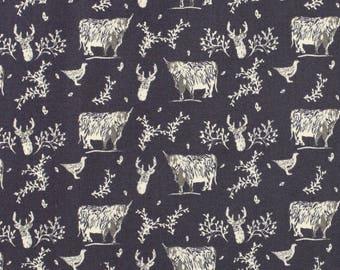 Highland 'Highland Animals' by Fabric Freedom Fat Quarter