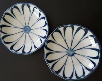 Japanese porcelain dishes (pair)